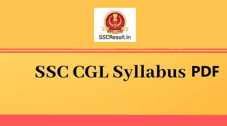 SSC CGL Syllabus PDF Download