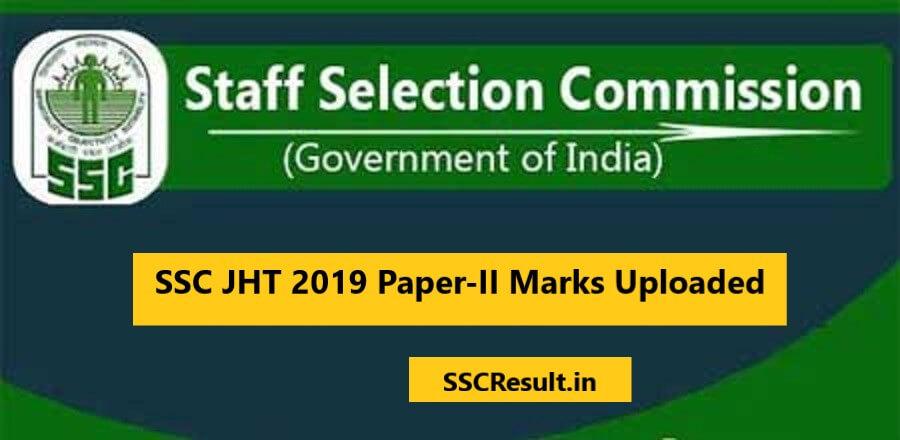 Junior Hindi Translator 2019 Paper-II Marks