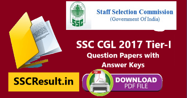 SSC CGL 2017 Question Paper PDF Download