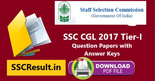 SSC CGL 2017 Question Paper PDF Download