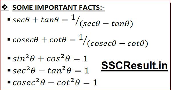 Trigonometry Formulas List PDF Download