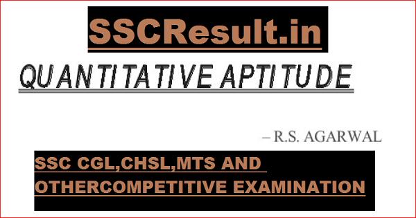 RS Aggarwal Quantitative Aptitude PDF Download