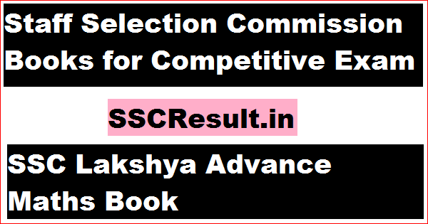Staff Selection Commission Books for Competitive Exam