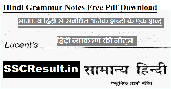 hindi grammar notes free pdf download