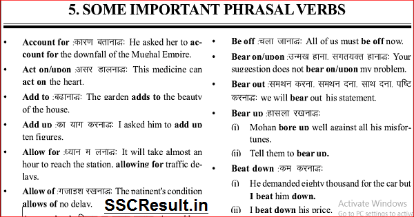 English Vocabulary PDF Download with Sentence