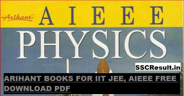 Arihant Books for IIT JEE Free Download PDF