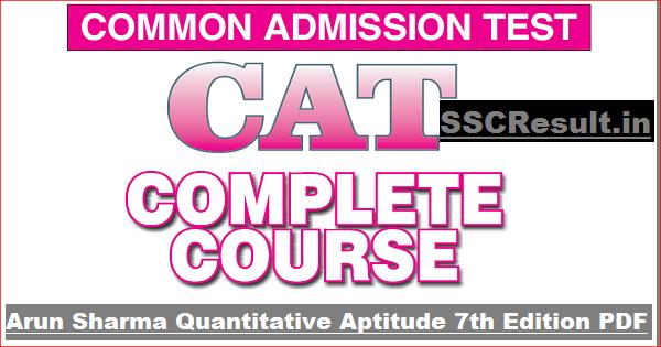 Arun Sharma Quantitative Aptitude 7th Edition PDF