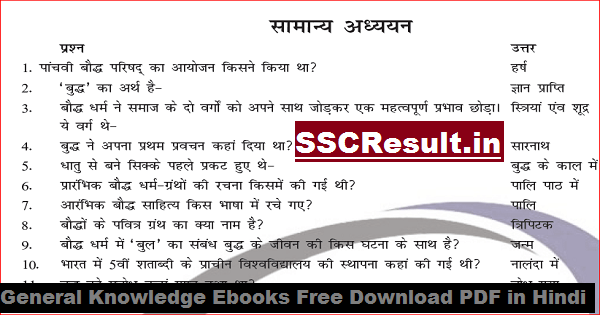 General Knowledge Ebooks Free Download PDF in Hindi
