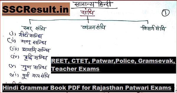 Hindi Grammar Book PDF for Rajasthan Patwari Exams