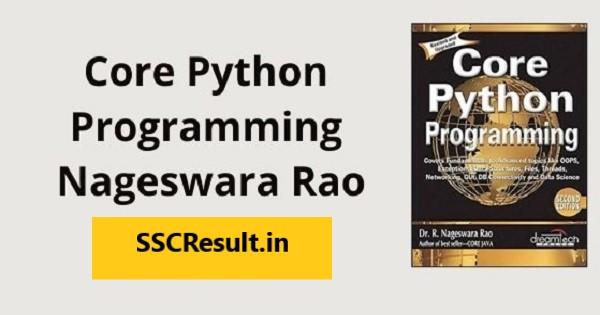 SSCResult.in Core Python programming nageswara rao pdf free download