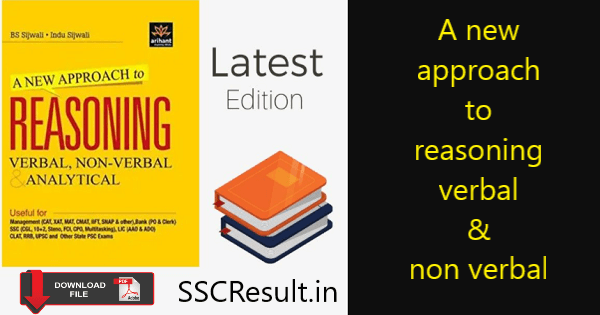 A new approach to reasoning verbal & non-verbal pdf