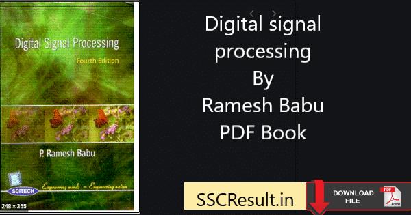 Digital signal processing ramesh babu pdfDigital signal processing ramesh babu pdfDigital signal processing ramesh babu pdf