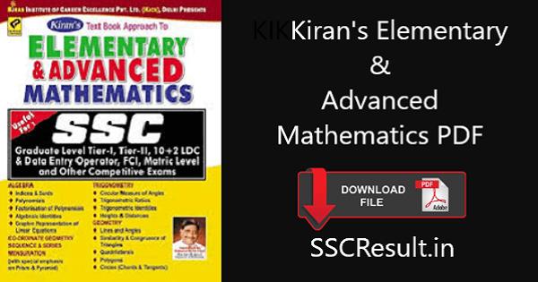Kiran's elementary and advanced mathematics pdf