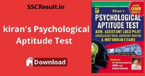 Kiran's psychological aptitude test book pdf