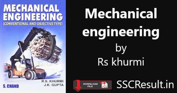 Mechanical engineering by rs khurmi pdf