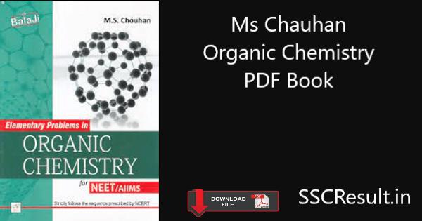Ms chauhan organic chemistry pdf