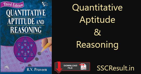 Quantitative aptitude and reasoning pdf