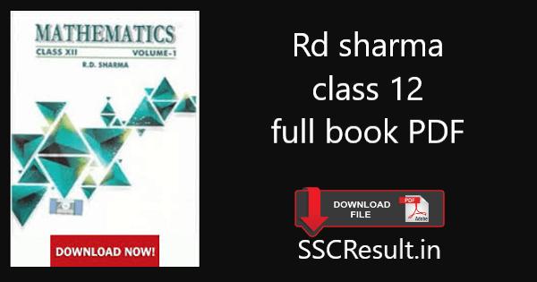 Rd sharma class 12 full book pdf download