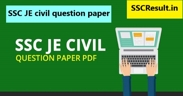 SSC JE civil question paper