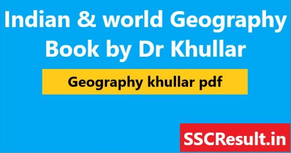 geography khullar pdf