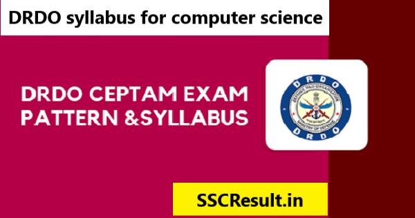 DRDO syllabus for computer science