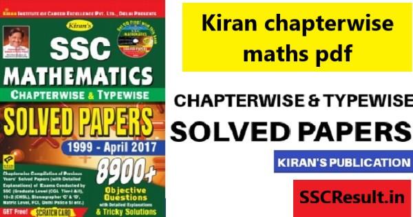 Kiran chapterwise maths pdf