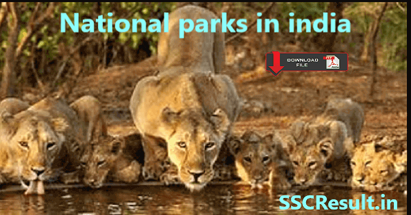 National parks in india pdf