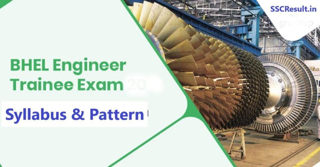 Bhel engineer trainee exam syllabus
