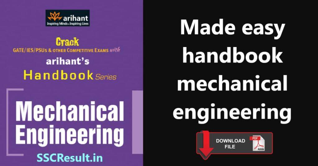 Made easy handbook mechanical pdf